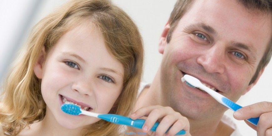 Teach him how to wash his teeth: at each age his method