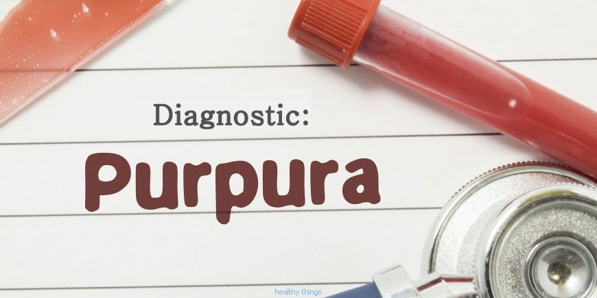 Diseases: Purpura: these red spots on the skin